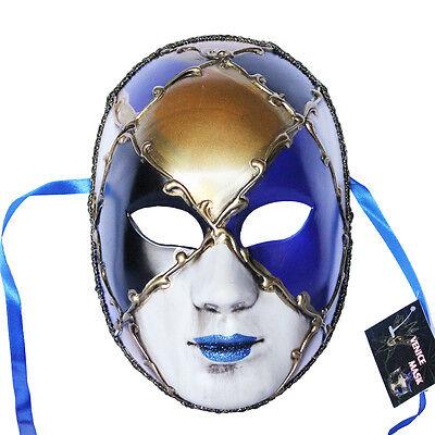 Venetian Full Face Mask Masquerade Ball Prom Party Mardi Gras Halloween - Venetian Full Face Mask