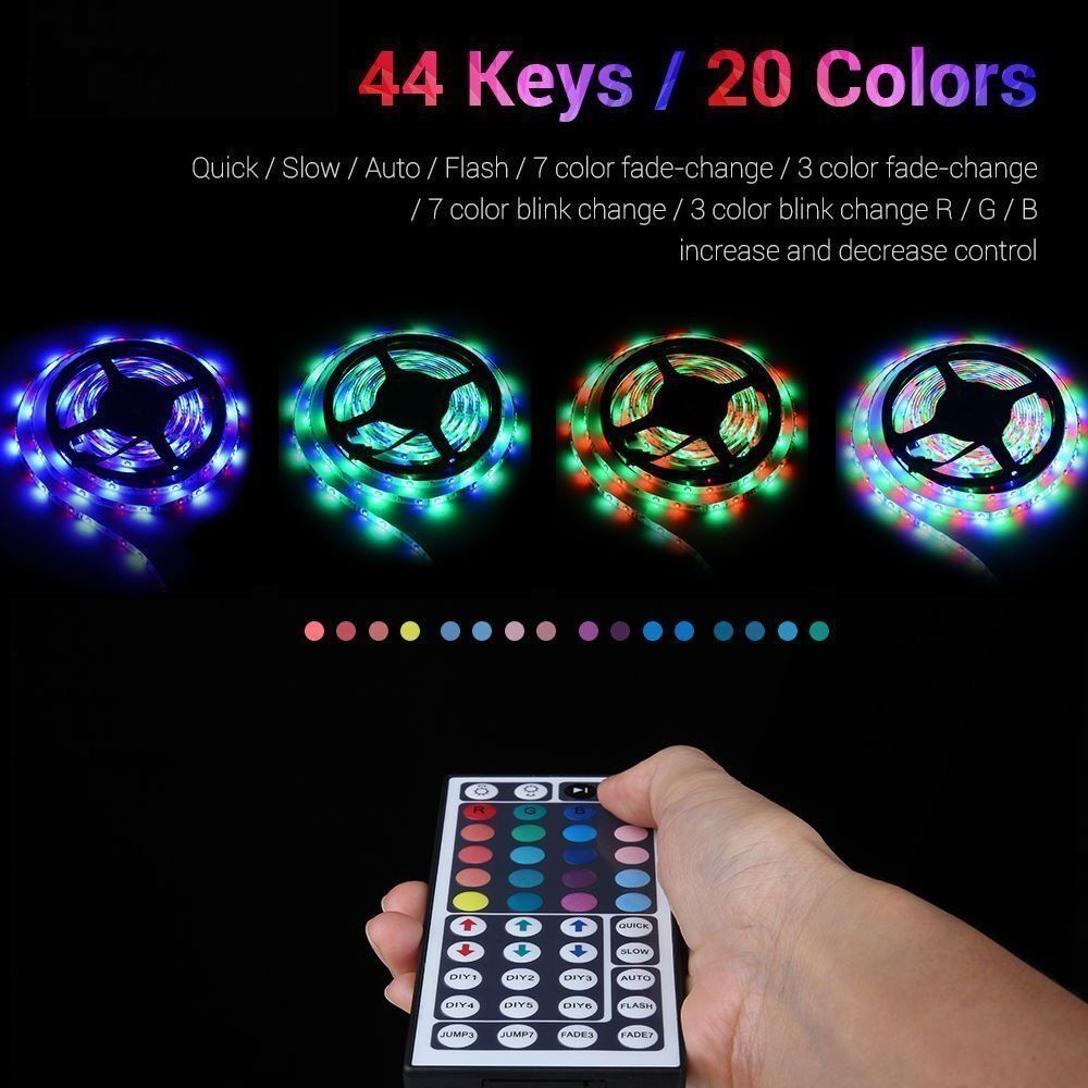 LED STRIPS For The House & Vehicle / Lights Multi Color Change Remote Home & Garden