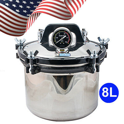 2019 High Pressure 8l Stainless Steam Autoclave Sterilizer Dental Medicalusa