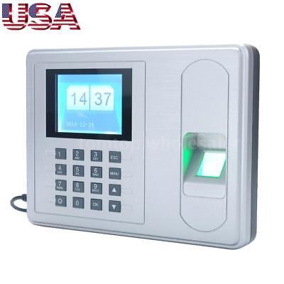 Employee 2.4 Tft Attendance Machine Biometric Fingerprint Time Clock Recorder