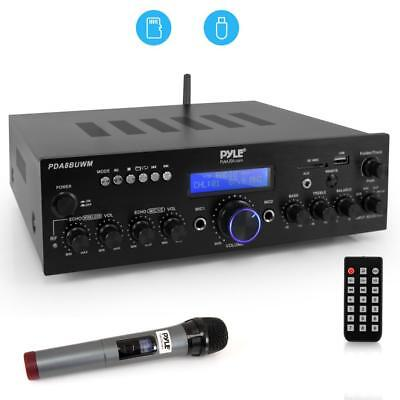 200W BLUETOOTH HOME THEATER AMPLIFIER AUDIO RECEIVER SYSTEM WIRELESS with MIC