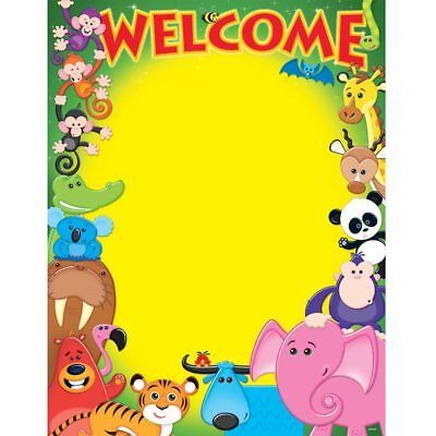Welcome Awesome Animals Learning Chart Trend Enterprises Inc. T-38335 ()