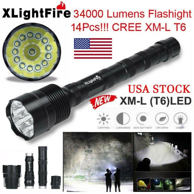 60000 Lumens XML T6 5 Mode Super Bright LED Tactical Flashlight Torch Light USA
