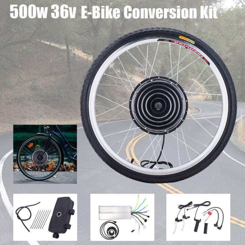 """26"""" Vorderrad E Bike Conversion Kit 36V 500W Ebike Elektrofahrrad Umbausatz Kit"""