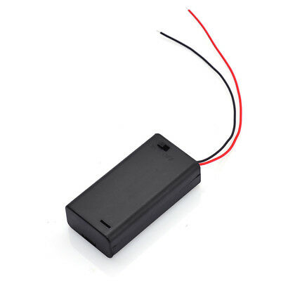 10x 2 Aa 2a Battery To Make 3v Plastic Holder Box Case With Onoff Switch Black