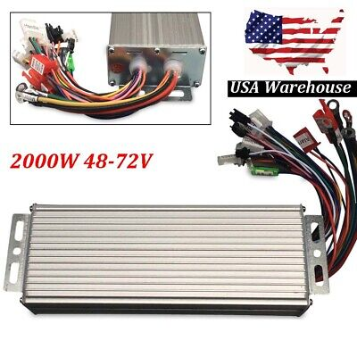 2000w 48-72v Dc Electric Motor Speed Controller Bicycle E-bike Scooter Brushless