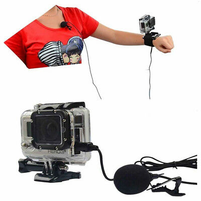 External Mini USB Microphone MIC&Collar Clip for GoPro Hero 4 3+ 3 2 1 Best