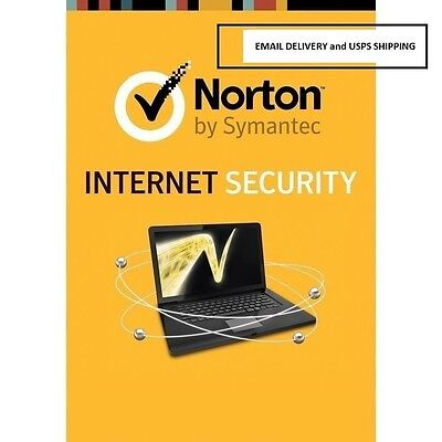 Norton Internet Security 2017 1PC 1 Year - Email Delivery and USPS Delivery