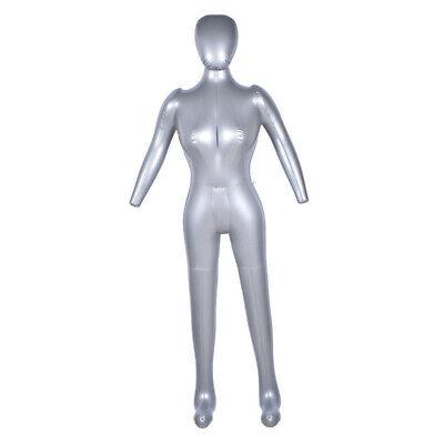Inflatable Mannequin Torso Underwear Display Pvc Female Full Body Model 67 Inch