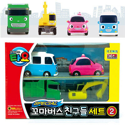 TAYO the Little Bus Special Friends Mini 4 Cars B Set Toy Character Kids Gift