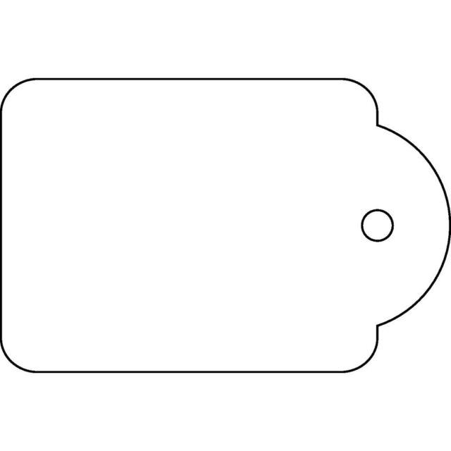 Apli 391 Strung Merchandising Tag Tickets 28x43mm White Box of 500 - GSTAGM2843