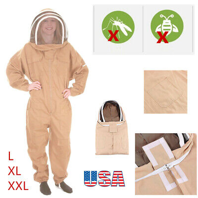 3models Beekeeping Beekeeper Veil Bee Suit Dress Jacket Smockhat For Protect Us