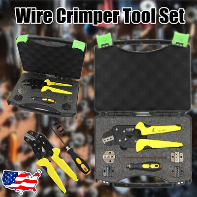 Professional Engineering Ratcheting Terminal Crimping Pliers Crimper Tool Set Us