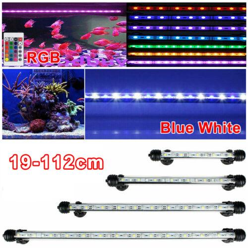 Aquarium Mondlicht LED Lampe Wasserdicht Beleuchtung RGB Weiß Blau 19-112cm