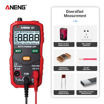 Auto Ranging 4000 Digital Multimeter True Multi Tester Acdc Meter Back Light