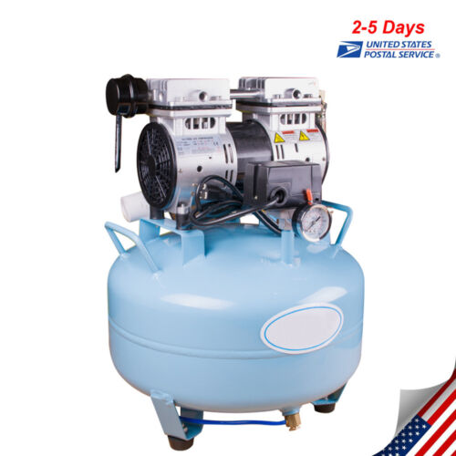 Dental Medical Air Compressor Silent Quiet Noiseless Oil Free Oilless USA STOCK