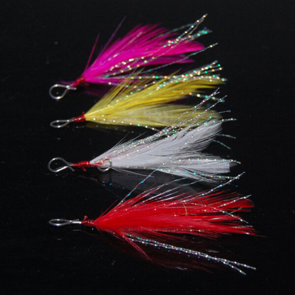 50PCS-Fishing-accessories-Lure-Minnow-Popper-Spoon-Hook-hang-Feather