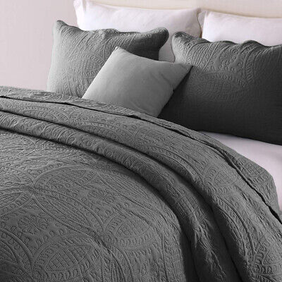 Embossed Bedspread Coverlet Quilt Set Bed Cover Lightweight Twin Full Queen King