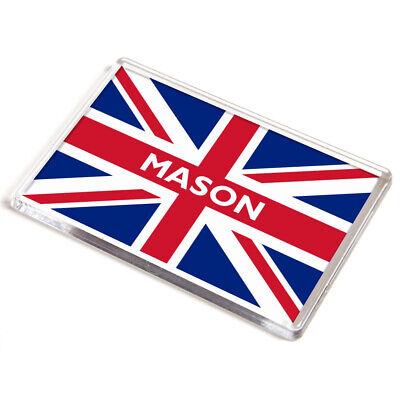 JUMBO MAGNET - Mason - Union Jack Flag - Boy's Name Gift