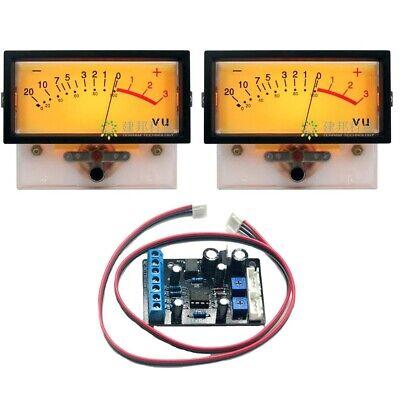 2pc Tn-73 Vu Meter Head Db Meter Discharge Backlight W Ta7318p Driver Board