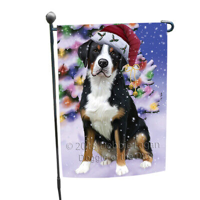Winterland Greater Swiss Mountain Dog In Christmas Holiday Garden Flag GFLG53822