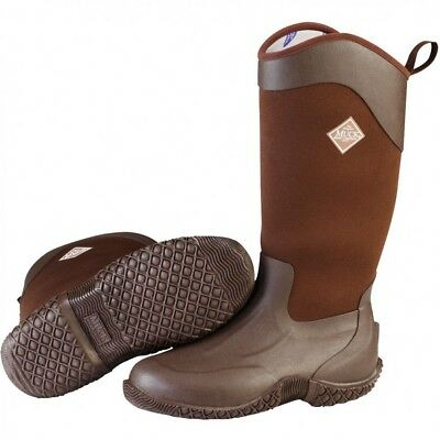 Muck Boots Company Women's TACK II HI TALL, CHOCOLATE BROWN, Neoprene Rubber Muck, Tack