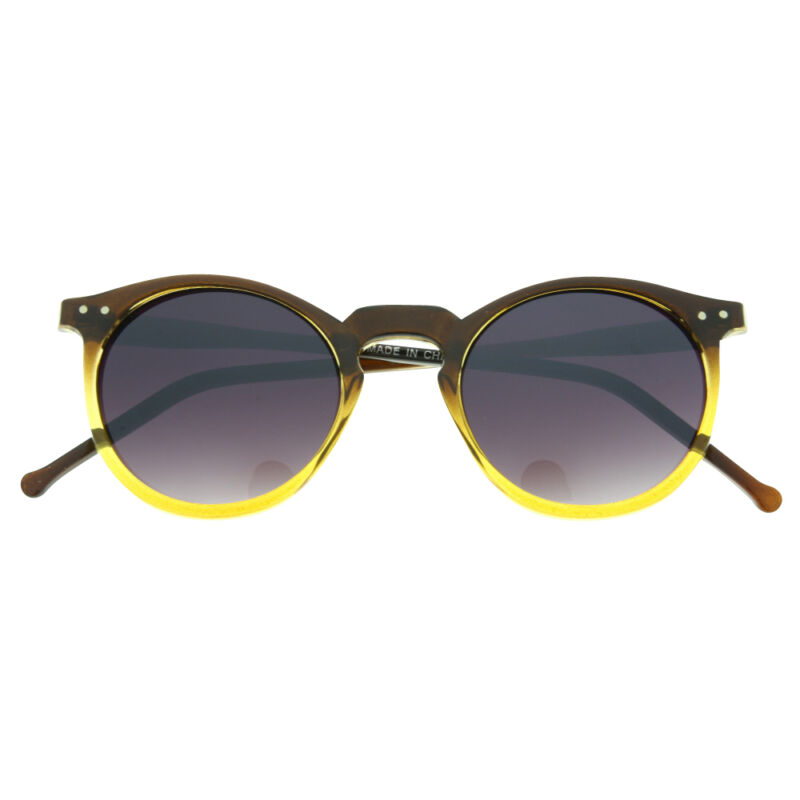 65bf7b4ad4e Vintage Retro Men Women Round Metal Frame Sunglasses Glasses Eyewear Black  Lens Brown and Clear Gold