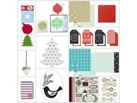Christmas themed craft & scrapbook supplies worth over £50