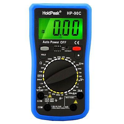 Digital Multimeter mit Batterietester, Strom, Spannung, Widerstand, Transistor