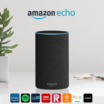 Amazon Echo (2nd generation) - Smart speaker with Alexa - Charcoal Fabric New