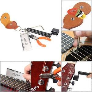 5-in-1 Guitar Accessories Kit Tool Set Setup String Winder Bridge Pin Peg C3B7