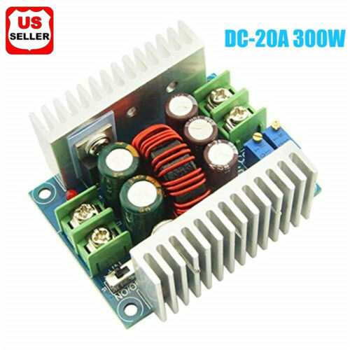 DC-DC Converter 20A300W Step Down Buck-Boost Power Adjustable Charger Board Tool Business & Industrial