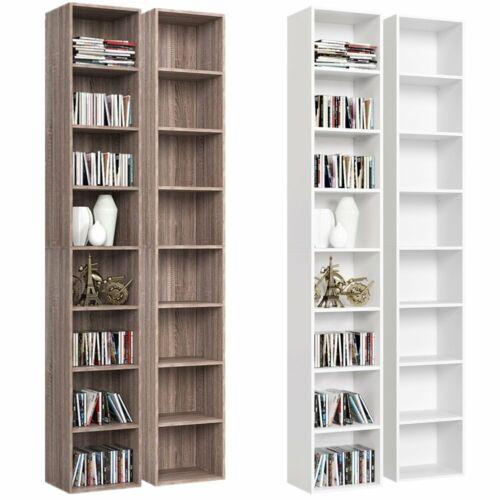 Bücherregal Standregal CD Regal Büroregal Holz Wandregal Raumteiler 8 Fächer