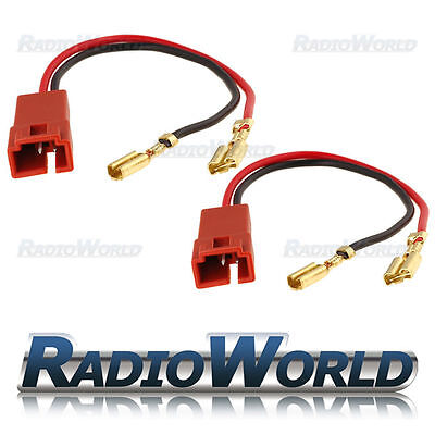 Speaker / Tweeter Adaptor Lead Loom Plug for Fiat Citroen Peugeot  Pair