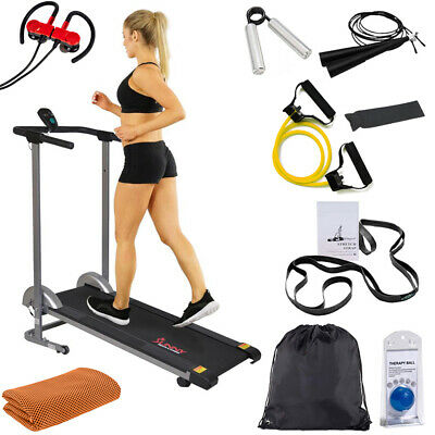 Sunny Health and Fitness Manual Compact Walking Treadmill w