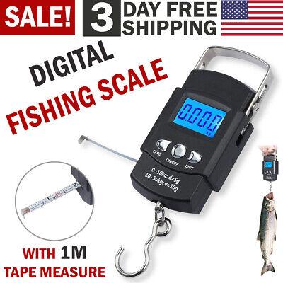 Digital Fishing Scale Portable Hanging Hook Electronic Weighing Fish Luggage Bag