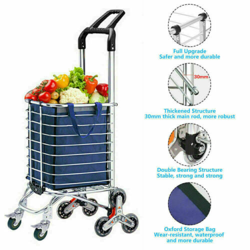 Winice  Folding Shopping Cart Basket Grocery Laundry Travel 6/8 Stair l e c 33