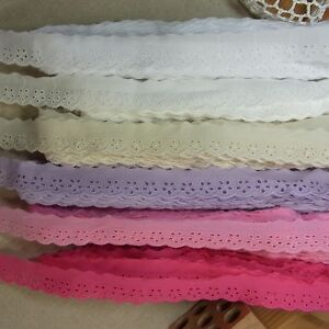 14Yds-6-Colors-Scalloped-Embroidery-Eyelet-Lace-Trim-Mini-Flowers-2-2cm-0-9-WD