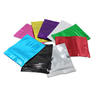 6x8cm Glossy Zip Lock Aluminum Foil Bag Seal Mylar Food Storage Pouches Pack