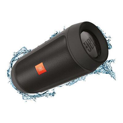 JBL Charge 2+ Splashproof Portable Wireless Bluetooth Speaker in Black