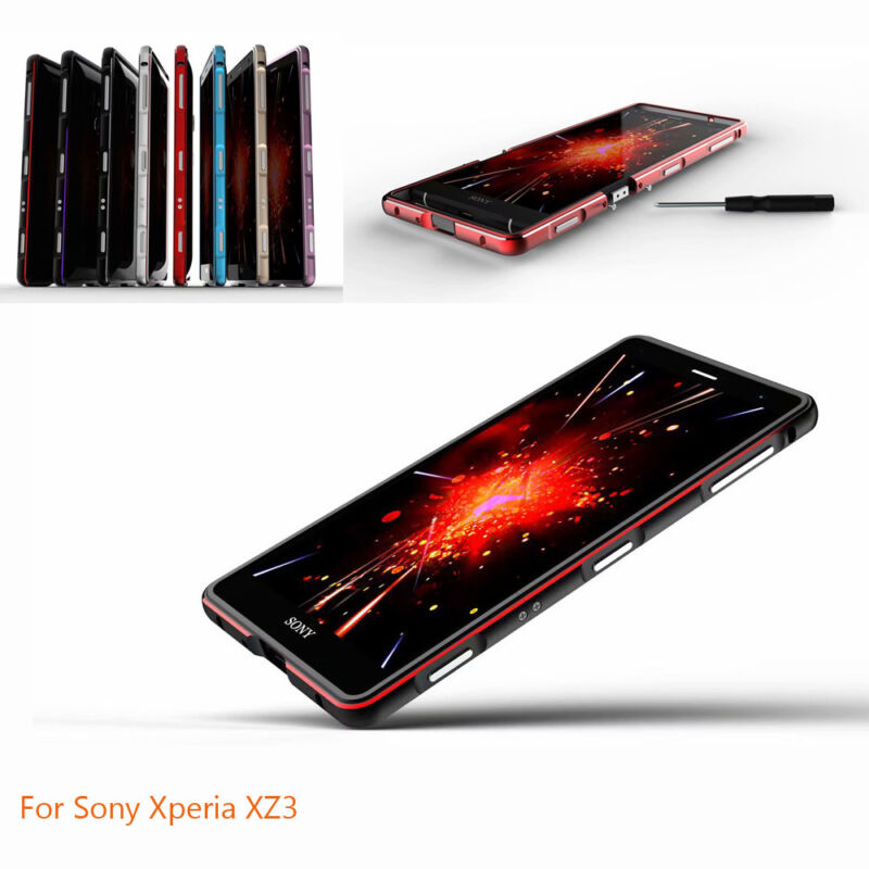 For Sony Xperia XZ3 Luxury Slim Colorful Aluminum Metal Bumper