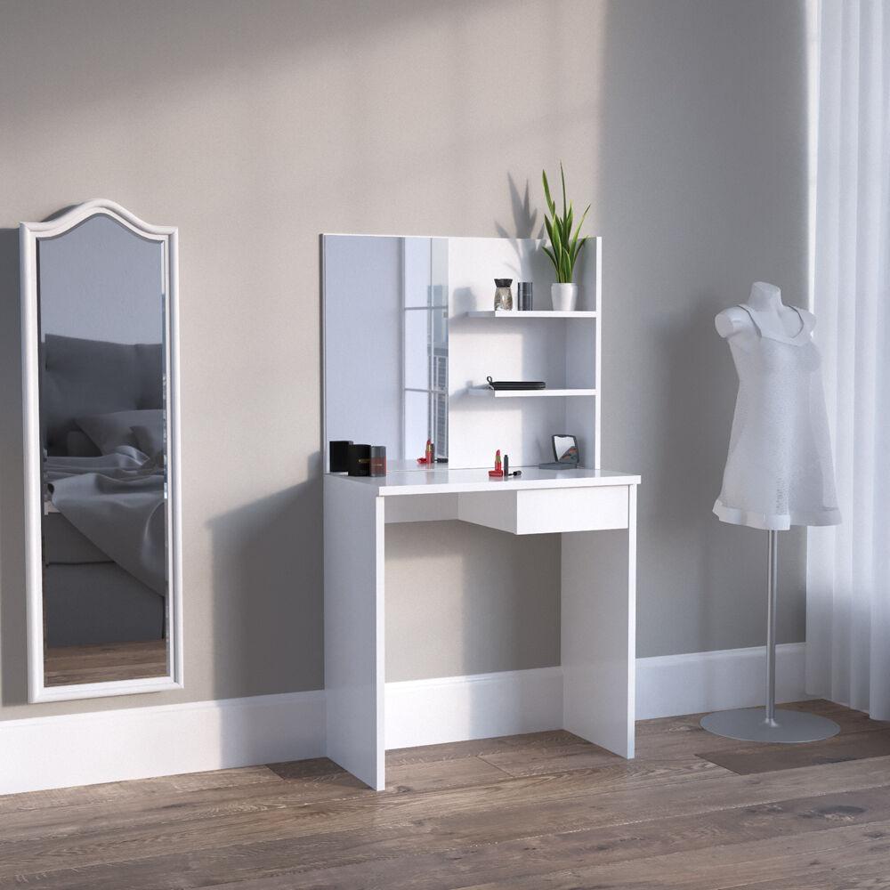 meuble de maquillage coiffeuse commode de maquillage table de maquillage blanc eur 104 90. Black Bedroom Furniture Sets. Home Design Ideas
