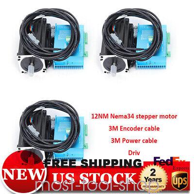 12nm 3axis Closed Loop Stepper Motor Nema34 Drivecontroller900w Transformer