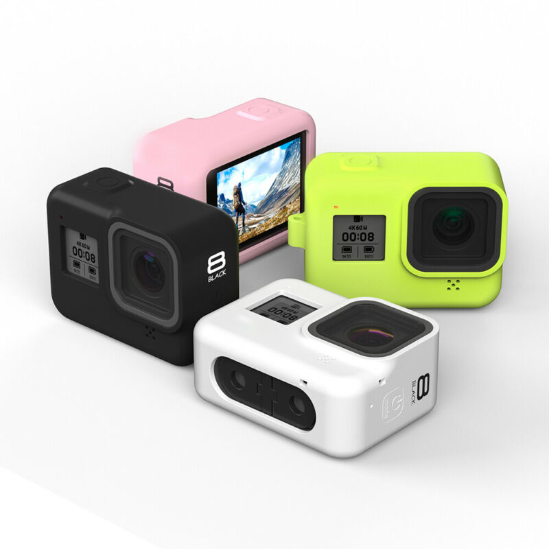 Sports Camera Silicone Dustproof Protective Case Cover Skin fit for GoPro Hero 8