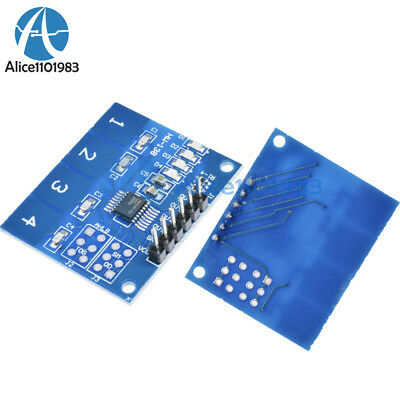 2pcs Ttp224 4 Channel Digital Touch Sensor Module Capacitive Touch Switch Button