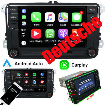 Deutsch Autoradio RCD330 CarPlay Android Auto Für VW Golf 5 6 Passat Polo Tiguan