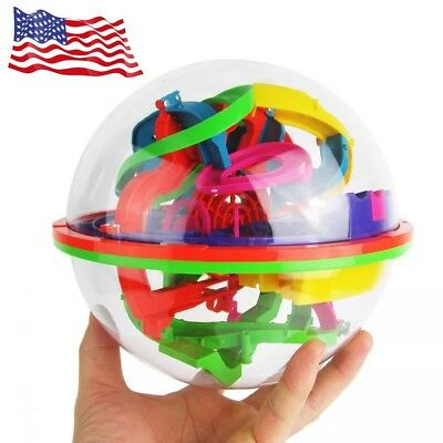 100 Barriers 3D Labyrinth Magic Intellect Ball Balance Maze Puzzle Toy