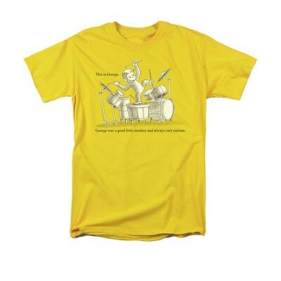 Curious George Adult Shirt (CURIOUS GEORGE THIS IS GEORGE Men's Licensed Adult Graphic Tee Shirt)