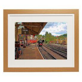 Framed Print Llangollen Railway Station Size 16 x 12 Denbighshire, Wales preserved railway station