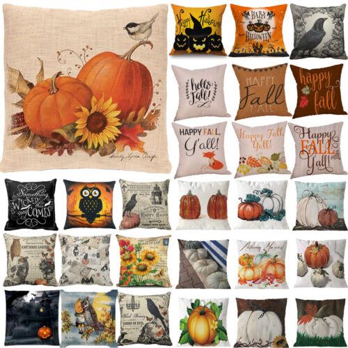 Halloween Pillows Cover Fall Decor Pillow Case Sofa Waist Th